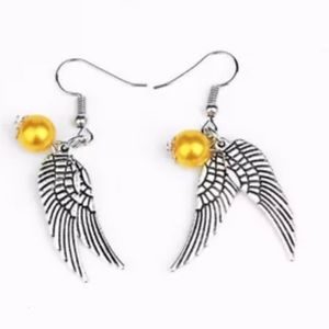 Jewelry - Harry Potter Silver Snitch Earrings New